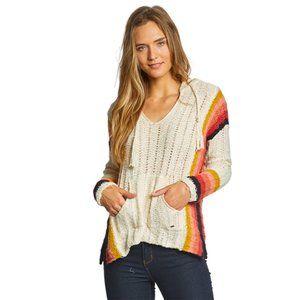 Rip Curl Dream Scape Poncho pull over knit sweater